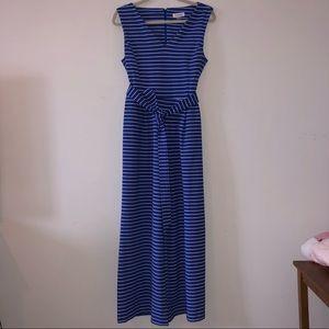 Calvin Klein | Blue & White Striped Jumpsuit